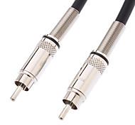 RCA Male naar RCA Male Video Kabel Verzilverde Zwart (1.5M)