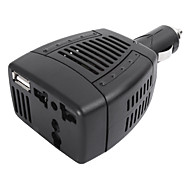 High Performance Modified Sine Wave 75-Watt 12-Volt DC to 220-Volt AC Power Inverter with 5-Volt 0.5A