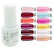 yemannvyou®sequins uv Farb GelNagellack no.109-120 (5 ml, farblich sortiert)