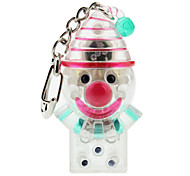 Transparent Clown Shaped Keychain with LED & Voice