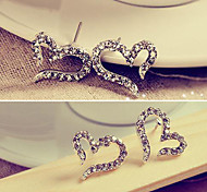 Lady love earrings earrings diamond earrings needles female Korean jewelry E611