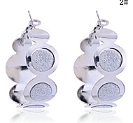 Lureme®Glitter Connected Circles Earrings