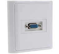 15-Pin Female VGA Wall Plate / Wall Outlet