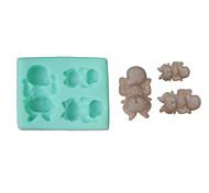 dormir ensemble de 3 moules en silicone (couleur aléatoire) de bébé