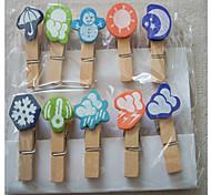 Weather Forecast Wooden Clip (10 PCS)