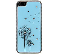 Diamond Look Dandelion Pattern Polished Hard Case for iPhone 5/5S (Optional Colors)