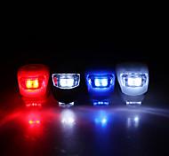 Excellente silicone LED arrière de sûreté de Flash Light 3-Modes lampe super lumineux pour vélos