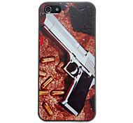 pistolet pose sur le anti-rayures cas pour l'iphone 5/5s de sable de modèle mat dur de PC