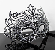 Hard Masquerade Chapped Retro Halloween Mask White&Black