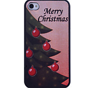 Kerstboom Printing Back Case voor iPhone 4/4S