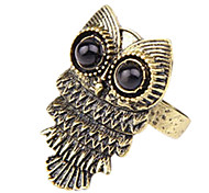Tide female Korean fashion retro cute owl ring personality wild (random color)