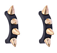 Punk Style Individuality Rivets C Shape Earrings