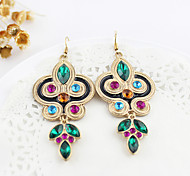 Drop Earrings Gemstone Rhinestone Simulated Diamond Alloy Jewelry Party Daily