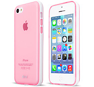 Detachable frame phone protect with semi-transparent TPU case cover for iPhone 5C