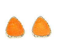 European and American punk sweet candy fluorescent color geometric triangle earrings (random color)