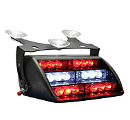 Red Blue 18x LED Firefighter EMS Personal Vehicle Emergency Dash Warning Light