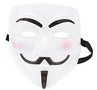Glow-in-dark Mask of V for Vendetta (White)
