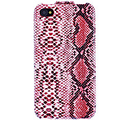 Snake Skin Texture Flip Entwurf PU Full Body Case für iPhone 4/4S (Optional Farben)