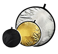 "32"" 2 in1 silver golden disc collapsible Reflector 80cm"