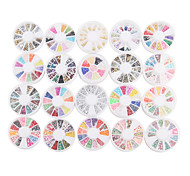 YeManNvYou®20PCS Nail Art Decoration Wheels Mixed-style