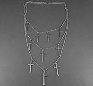 Crossing Three Tassel Necklace