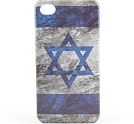 Israeli Flag Pattern Hard Case for iPhone 4 and 4S (Multi-Color)