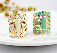 Ring Daily Jewelry Alloy / Acrylic Women Statement Rings7 White / Green