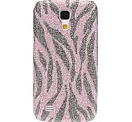 Bling Zebra Stripe Padrão Hard Case para Samsung Galaxy S4 Mini I9190