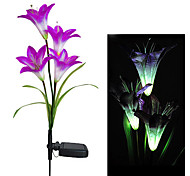 Color Changing Solar Light Decorative Garden Solar Lily Flower Lights (CIS-58263B)