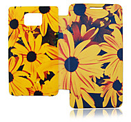 Zonnebloem Leather Case voor Samsung Galaxy S2 I9100