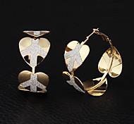u7® placcato oro reale 18K pace logo cerchio orecchini