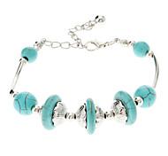 Vintage Style Bohême boule Turquoise Bracelet