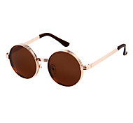Men's Black & Brown Lens Vintage Round Frame Sunglasses(Assorted Colors)