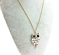Owl necklace-White