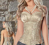 Satin with Jacquard Plicated Steel Bone Classic Lolita Corset