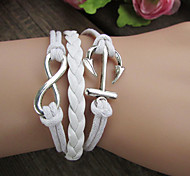 Retro Anchor 8-Word Knotted Bracelet