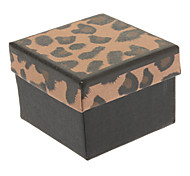 Square Leopard Paper Ring Box