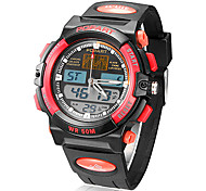 Men's Analog-Digital Multi-Function Rubber Band Quartz Analog Wrist Watch (Assorted Colors)