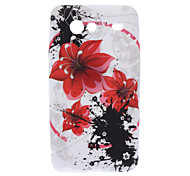 Safflower Pattern TPU Soft Back Cover Case for Samsung Galaxy S Advance I9070