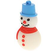 Plastic Christmas Snowman Model USB 32GB