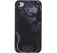Black Branches of The Tree Pattern PC Hard Case with Interior Matte Protection for iPhone 4/4S