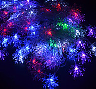 20-LED 4M esterna impermeabile Vacanze di Natale decorazione floreale RGB LED Light Luce String spina europea (220V)