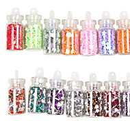 48 Colors Glass Bottled Nail Art Decoration Random Models