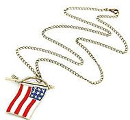 Oil Drop Flag Long Necklace