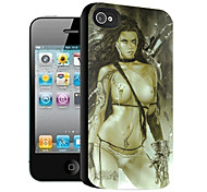 Bare Woman Pattern 3D Effect Case for iPhone4/4S