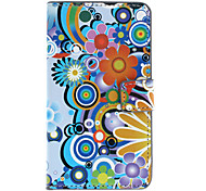 Cartoon Flowers Pattern Full Body Case with Card Slot for Nokia Lumia 720/N720