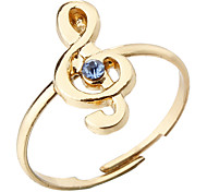 Fashion Music Note Adjustable Ring(Random Color)