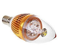 e14 3w 6000k lumière blanche Bougie LED AC110 / 220V