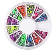 yemannvyou®12 padrão misto 6 cores decorações de arte rebite prego