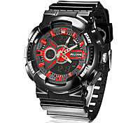 Men's Multi-Function Analog-Digital Dial Rubber Band Quartz Analog Wrist Watch (Assorted Colors)